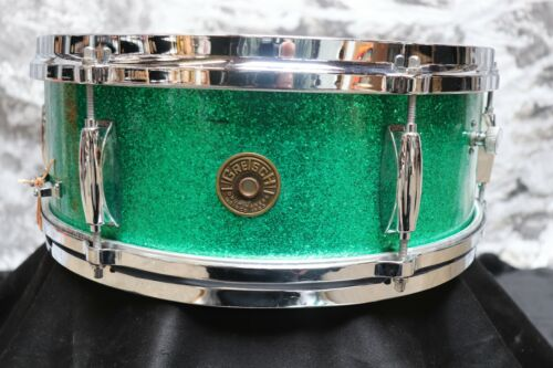 Vintage Gretsch 5.5x14 Snare Drum Green Sparkle