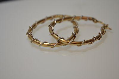 9ct Gold Fancy Oval Earrings