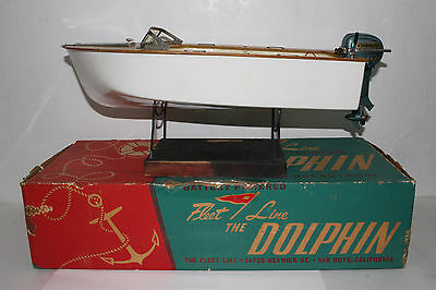 1950's Fleet Line Dolphin Boat with Evinrude Motor, Boxed
