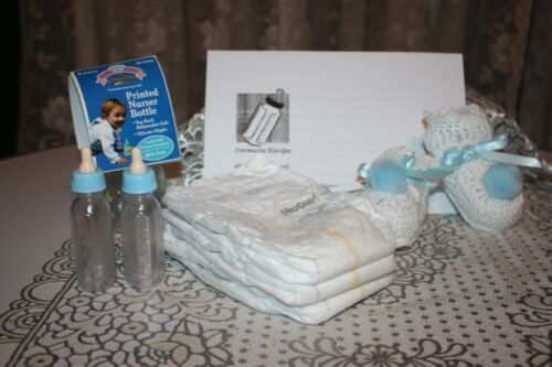 Reborn Doll Accessory Set - Booties, Bottles and more! BOY
