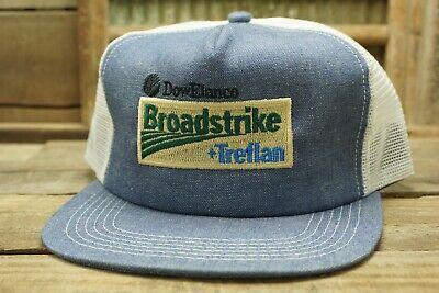 Vintage BROADSTRIKE Denim Mesh SnapBack Trucker Hat Cap K PRODUCTS Made in USA