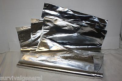 (4) 5-6 Gallon Mylar Bags 30x20  Heavy Duty Long Term Food Storage Bucket Grain