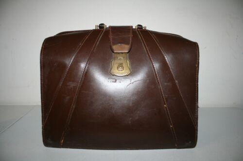 Vintage Brown Leather Case Large Doctor