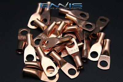 8 Gauge Copper 14 Ring 25 Pk Crimp Terminal Connector Awg Ga Car Eye Cur814