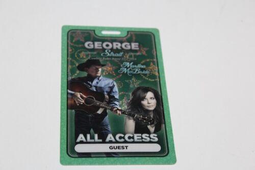 George Strait Martina McBride - Laminated Backstage Pass - Lot # 1 - FREE POSTAG