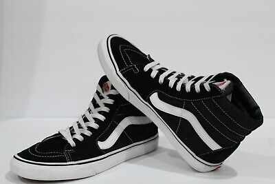 Vans Sk8-HI (Black/White) Mens Size:9.5 Womens Size:11