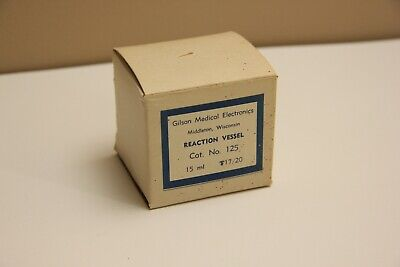 Gilson Medical Electronics Reaction Vessel No. 125 Vtg. Laboratory Glassware