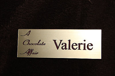 Name Tag Badge Red Personalized Custom Engraved Magnetic Or Pin Back