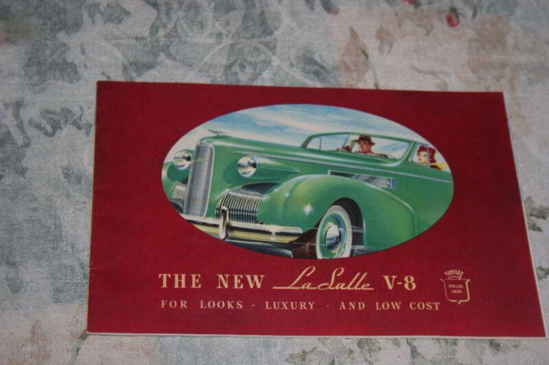"""1939 """"THE NEW LASALLE""""  DEALER SALES BROCHURE  ORIGINAL"""