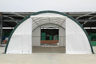 New 30x40x15 Canvas Fabric Storage Building Shelter Shop Metal Frame W Warranty