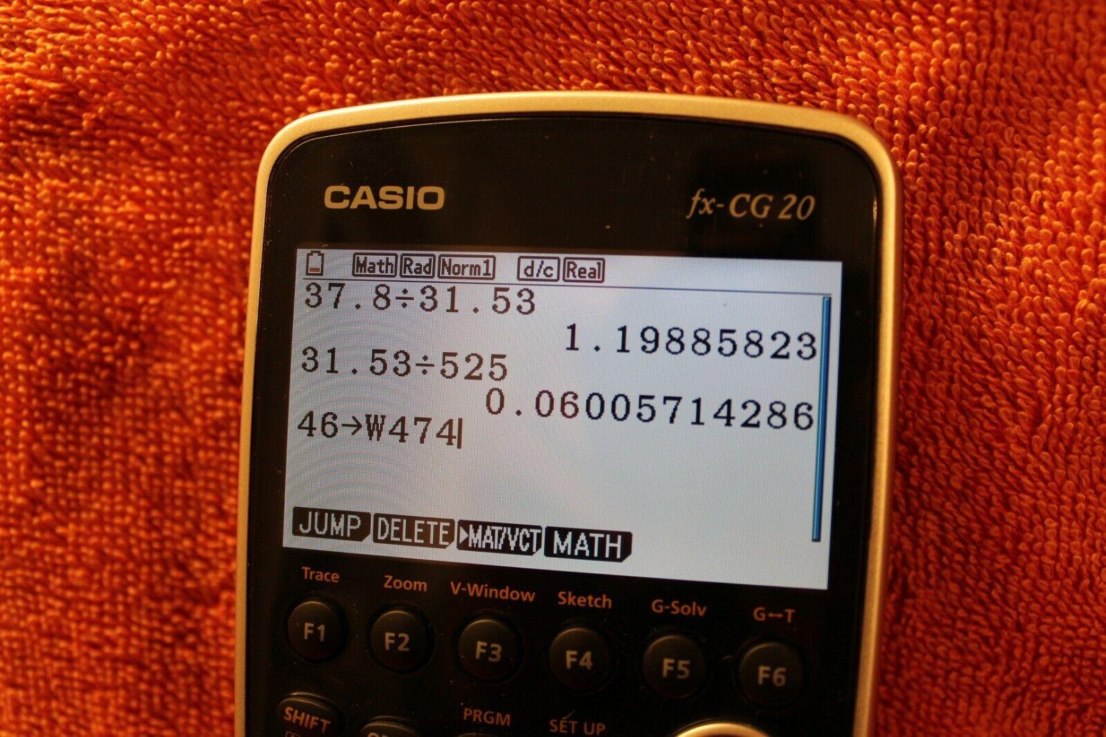 Casio fx-CG20 Grafikrechner mit hochauflösendem Farbdisplay - gebraucht-wie neu!
