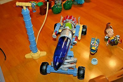 2001 Jimmy Neutron Toys -Used- Rocket Blaster, Jimmy Figure & Goddard