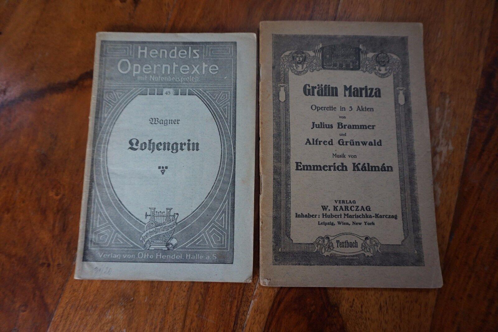 Textbücher Opernbücher Operntexte Gräfin Mariza Lohengrin