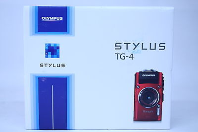 Olympus Stylus TG-4 16MP Waterproof Digital Camera with 3-Inch LCD - Red