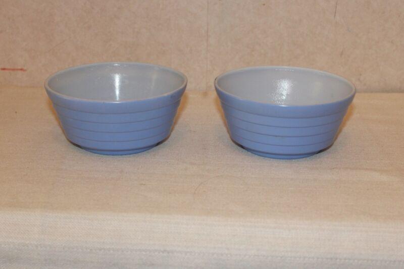 Vintage Hazel Atlas Moderntone Blue Cereal Bowl - Set of 2