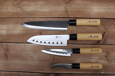 4pcs Chef Knives set Cutlery Knife Japanese Kitchen Sashimi Fruit Bone Couteau