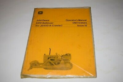 John Deere 6410 Bulldozer For Jd450-b Crawler Operators Manual Issue 10