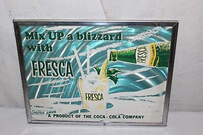 Vintage 1960S Fresca Coca Cola Soda Pop Bottle Gas Oil Sign