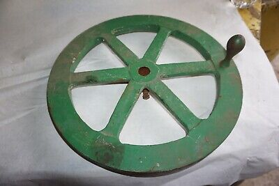 Vintage Cast Iron 14 With A 78 Bore Machine Hand Wheel Steampunk Industrial