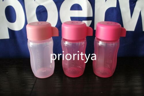 Tupperware Mini ECO Candy Snack Bottle Pink 3oz / 90ml Set of 3 New in Package