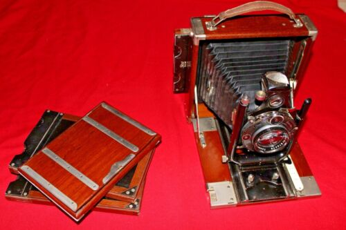 Ica Tropica Tropical Camera w/ Carl Zeiss 16.5cm Ground glass 3 rare holders