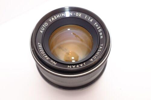 yashica yashinon dx 50mm f/1.4 M42 screw mount Lens