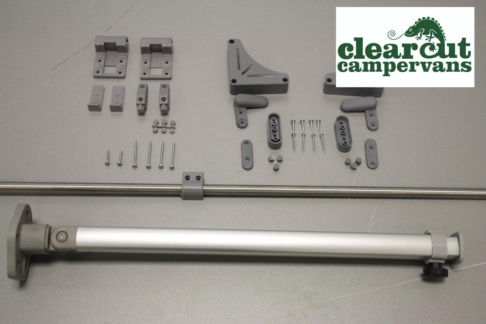 REIMO FOLDING TABLE LEG VW T5 CAMPERVAN ADJUSTABLE TABLE LEG AND RAIL KIT