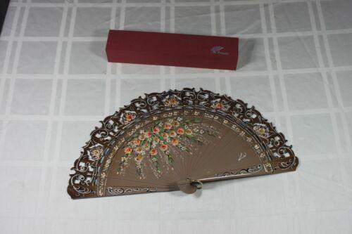 Folgado Wood Fan Custom Dance Fan Hand Painted Spanish Style Fan Wedding Gift