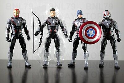 4 Avengers Endgame Marvel Legends IRON ANT MAN CAPTAIN AMERICA HAWKEYE Quantum
