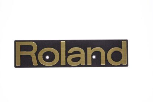 """For Roland Plastic Golden Logo Emblem Badge 155mm (6-1/8"""") x 37mm (1-1/2"""")"""
