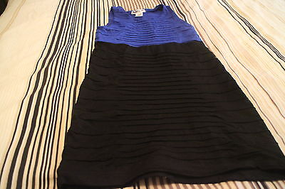 Flowers By Zoe Sequin Black and blue  Dress Stunning  Size S