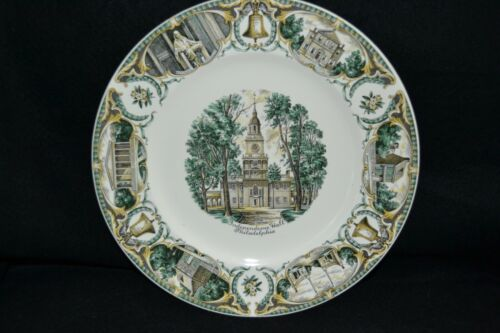 "Vintage Independence Hall 11"" Plate by Salem China"