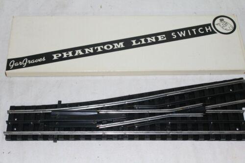 4 Gargraves O-72 Phantom Line Switches 3 Left  & 1 Right --WITH OB`S