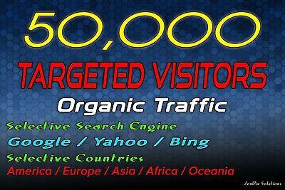 Drive 50k Targeted Web Traffic