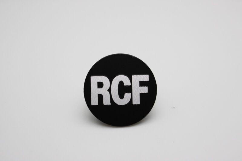 "For Replacement RCF Logo Badge 55mm (2-1/8"") Round - Aluminium"
