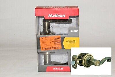 Antique Brass Al Series - Kwikset Signature Series Lido Entry Lever 740LL 5 SMT CP K4 Antique Brass