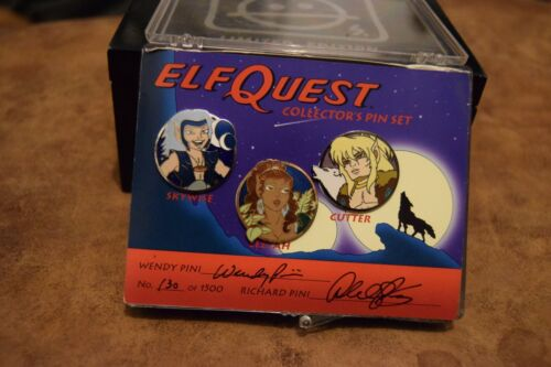 Elfquest signed pin badge limited edition set 130/1500