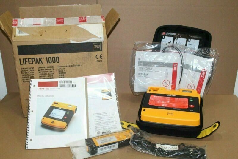LifePak 1000 Defib, Brand New In Box w/ Accessories