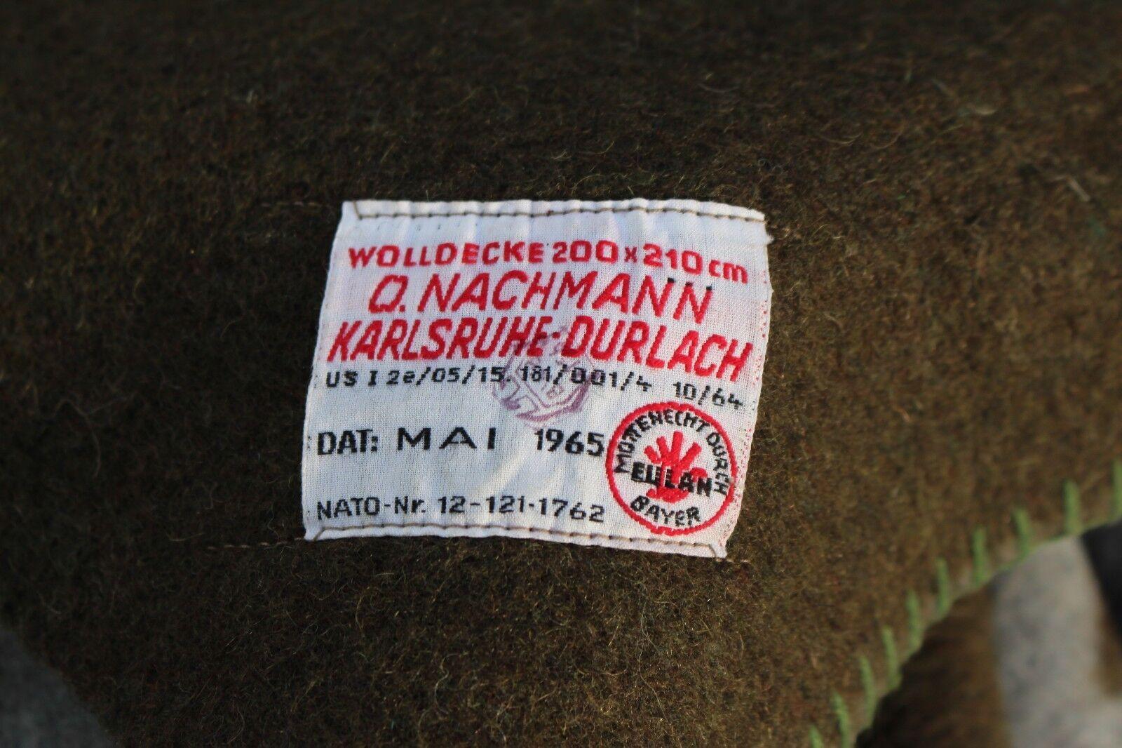 braune Pferdedecke Schlafdecke 220x130cm gebrauchte Bundeswehr Wolldecke orig