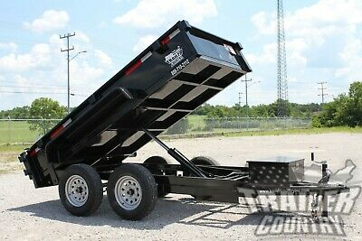 New 2021 5 X 10 7k Gvwr Hydraulic Power Up Down Dump Trailer Equipment Hauler