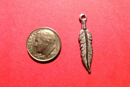 One Hundred  Pewter  Feather  Charms