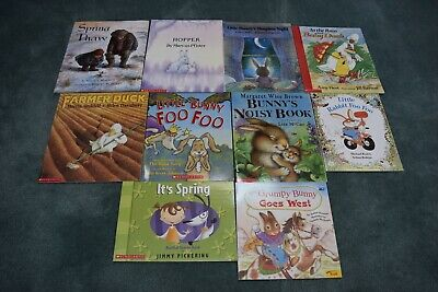 Children's Spring  Theme Picture Books, Lot of 10 books (5 available)