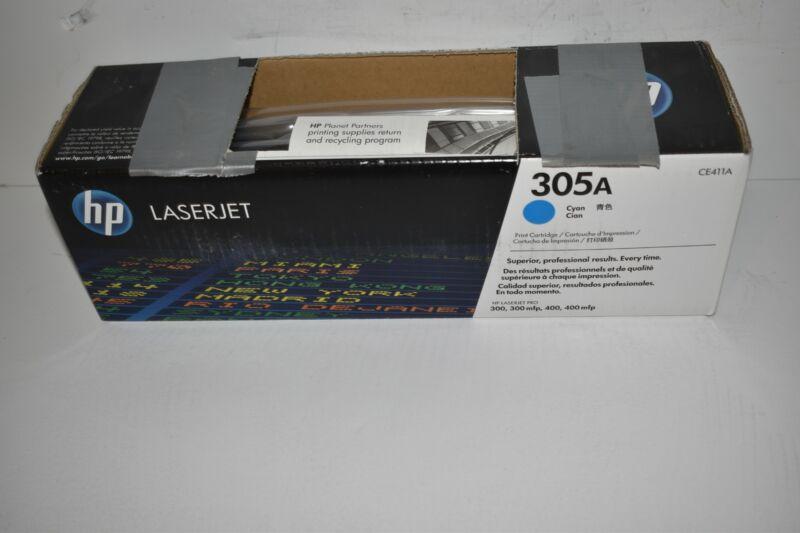 ^^ HP CE411A 305A Cyan Toner Cartridge Genuine OEM Original NEW SEALED  (#1678)
