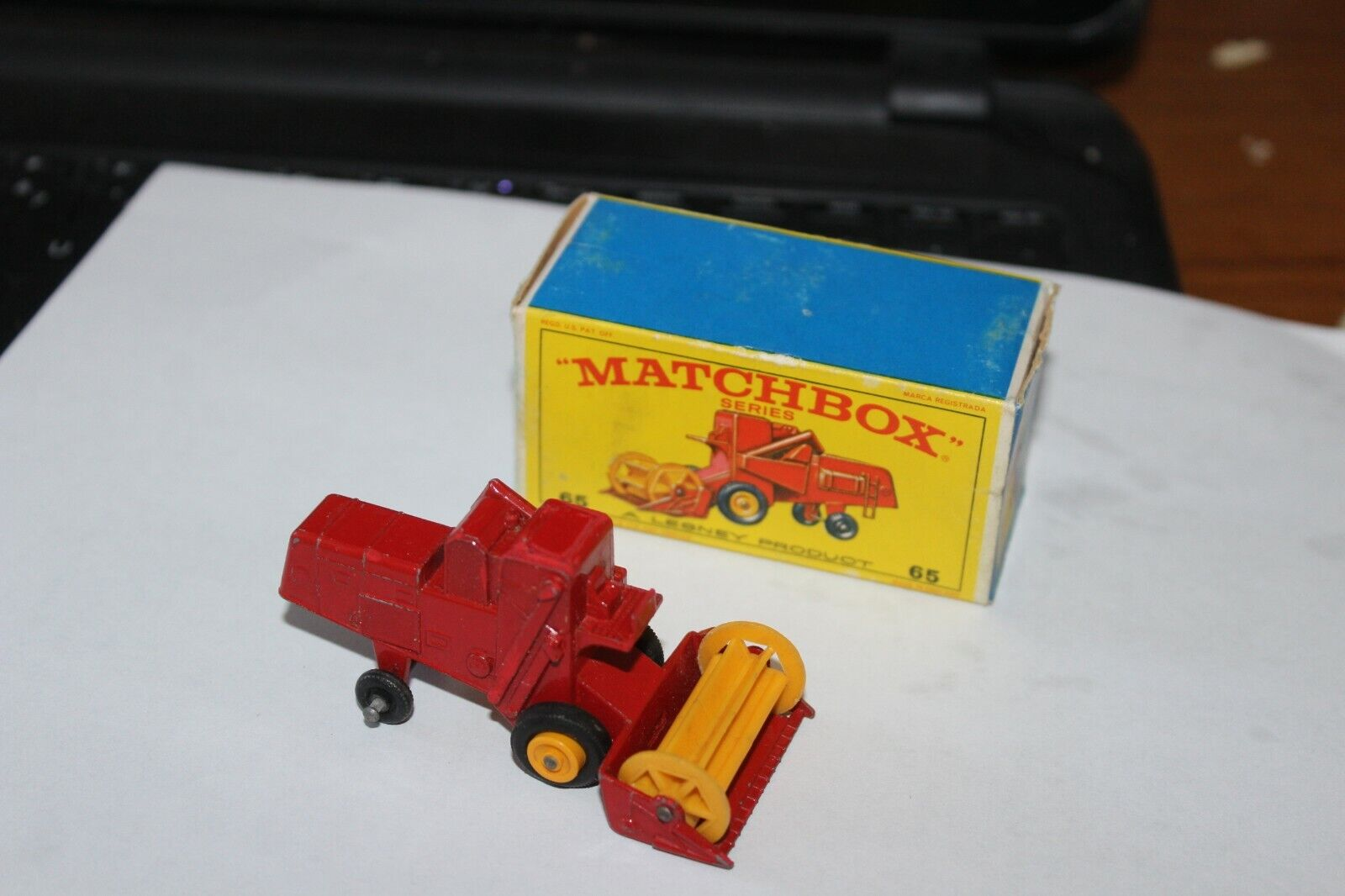 1967 Matchbox-Red Claas Combine Harvester #65-In Original Box