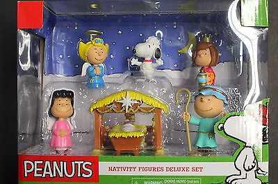 PEANUTS NATIVITY DELUXE FIGURE SET ANNUAL CHRISTMAS PAGEANT-CHARLIE LUCY SNOOPY](Snoopy Nativity Set)