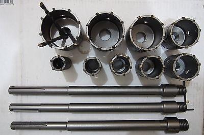 9 Sds Max Masonry Concrete Core Drill Bits For Hammer Drilling