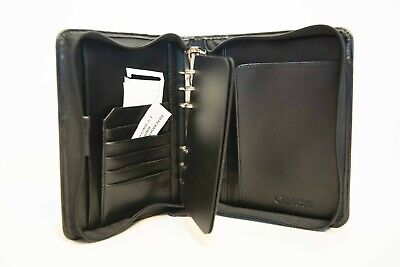 Franklin Covey Black Compact Planner Sample Zip Slight Damage 41490