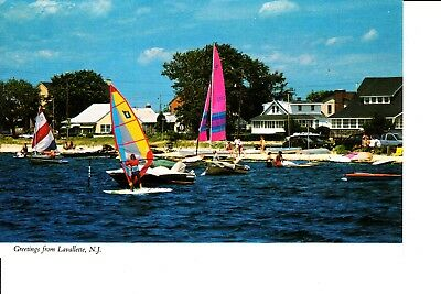 Lavallette, NJ   Sailboats On Bay In Front Of Homes 1980s