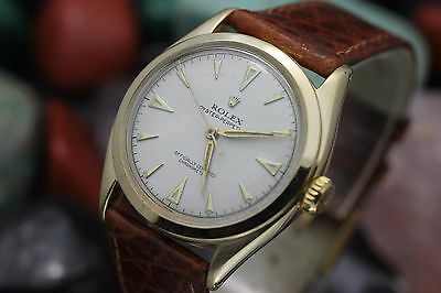 Vintage ROLEX Oyster Perpetual Ref. 6085 14K Solid Yellow Gold Men's Dress Watch
