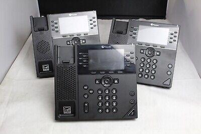 Lot Of 3 Polycom Vvx 450 12-line Ip Business Phones 2201-48840-001 Bases Only